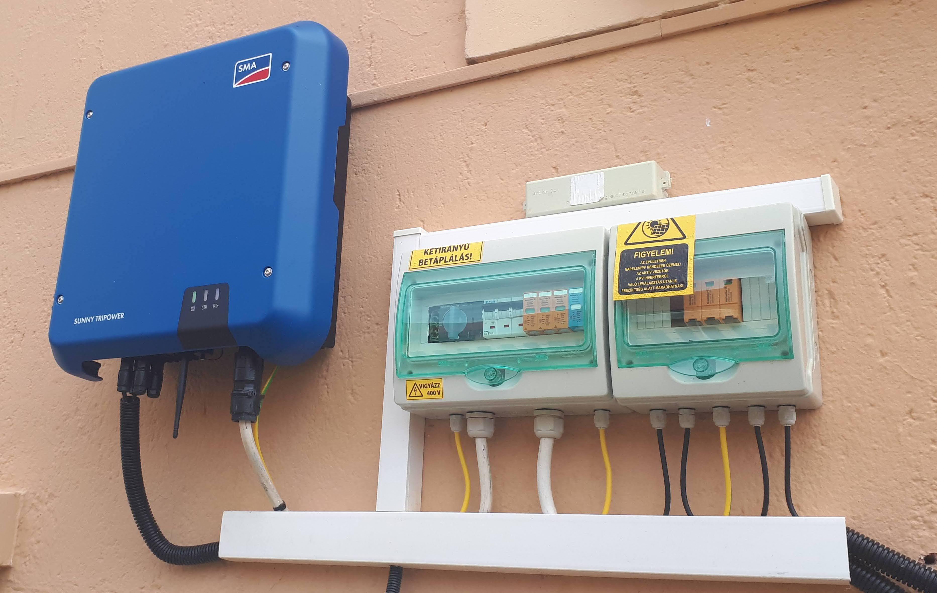 Bakonybél - 4,675 KWp teljesítményű napelemes rendszer