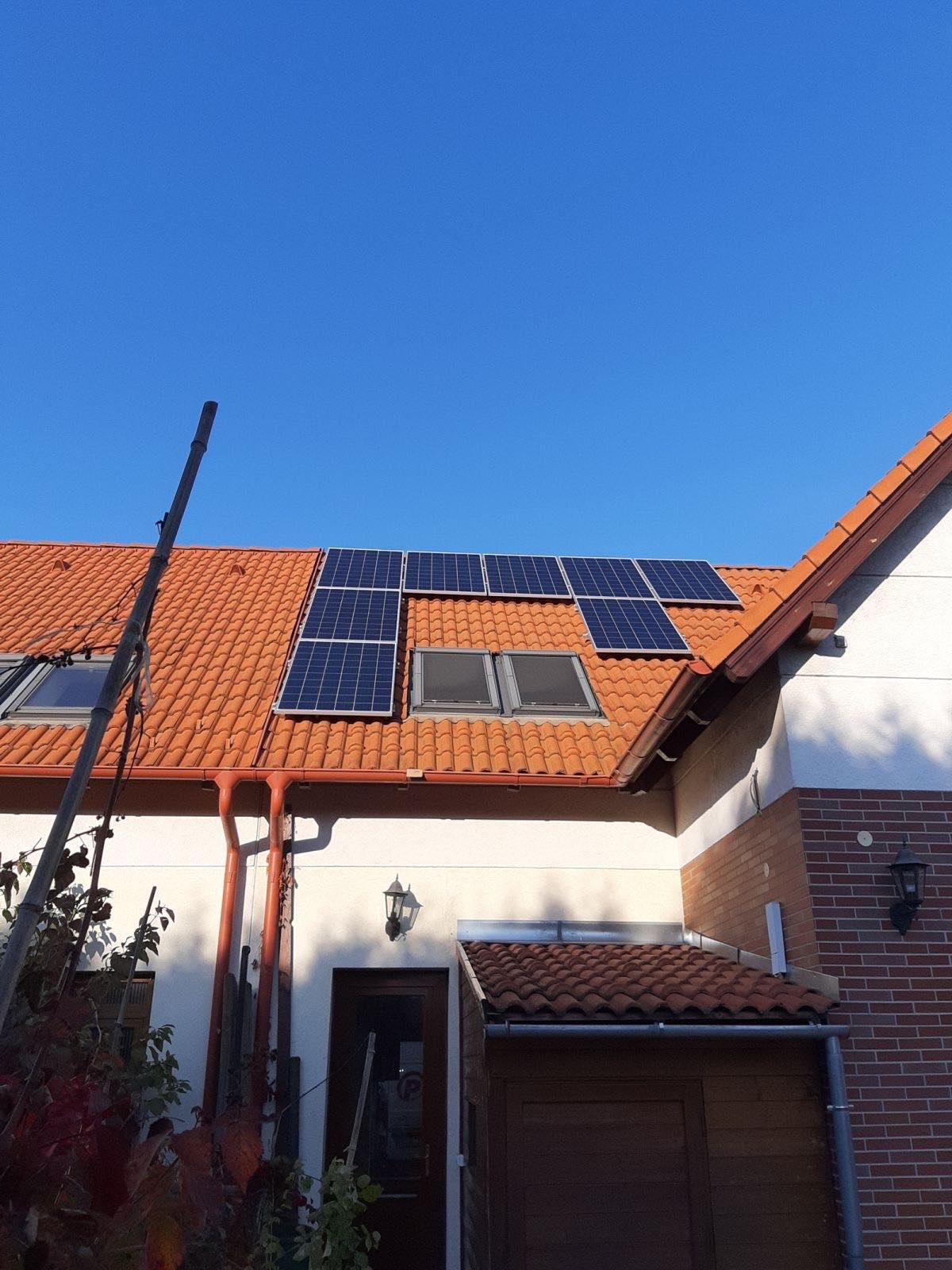 Budapest 4,4 KWP teljesítményű napelemes rendszer